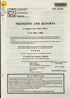 Preprints and Reports on Display in the CERN Library PDF