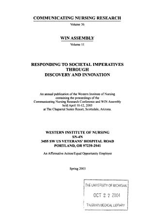 Communicating Nursing Research PDF