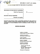 California. Supreme Court. Records and Briefs: S030047, Petition for Review