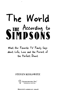 The World According to the Simpsons PDF