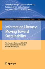 Information Literacy  Moving Toward Sustainability