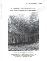 Sugar maple provenance study   West Virginia outplanting   10 year results PDF
