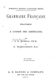Grammaire française pratique à l'usage des Américains