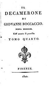 Il Decamerone di Giovanni Boccaccio: Volume 4