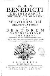 De servorum Dei beatificatione et beatorum canonizatione et supplementum