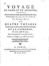 Voyage en Nubie et en Abyssinie, entrepris pour découvrir les sources du Nil, pendant les années 1768-1773: Volume5