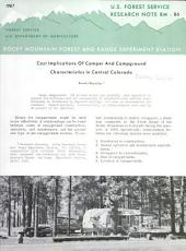 Cost implications of camper and campground characteristics in central Colorado