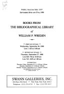 Books from the Bibliographical Library of William P  Wrenden   September 26th and 27th  1990 PDF