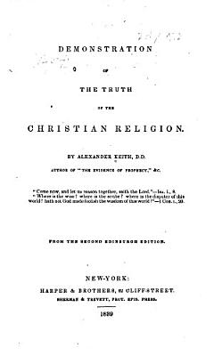 Demonstration of the Truth of the Christian Religion PDF