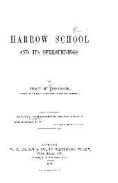 Harrow School and Its Surroundings
