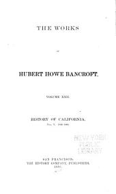 History of California. 1884-90