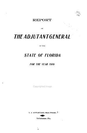 Report of the Adjutant General of the State of Florida