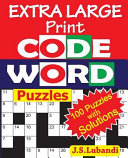 Extra Large Print Codeword Puzzles Book
