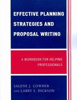 Effective Planning Strategies and Proposal Writing PDF