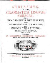 Grammatica linguae Syriacae