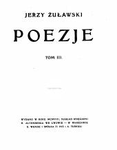 Poezje: Tom 3