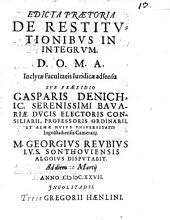 Edicta praetoria de restitutionibus in integrum