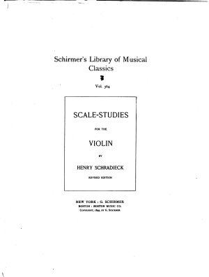 Scale Studies for the Violin PDF
