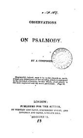 Observations on psalmody, by a composer [D.E. Ford].
