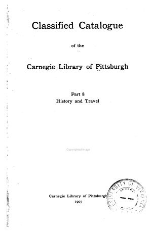 Classified Catalogue of the Carnegie Library of Pittsburgh  1895 1902 PDF