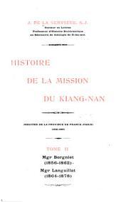 Histoire de la mission du Kiang-nan: Jésuites de la province de France (Paris) 1840-1899, Volume1