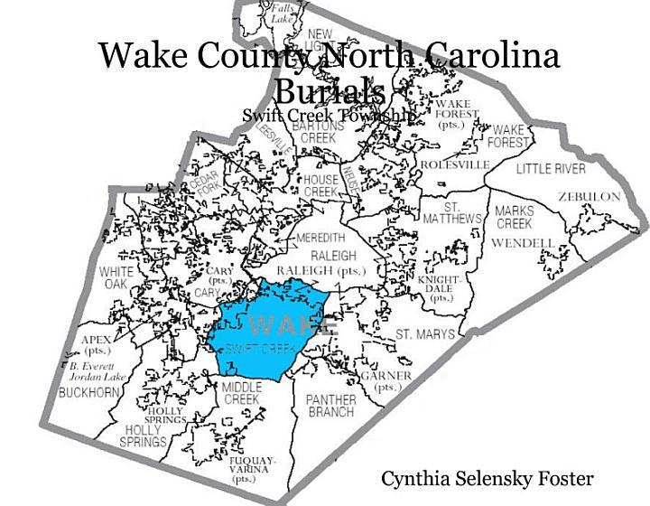 Wake County North Carolina Burials - Swift Creek Township