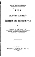 Key to Bradbury s Elementary Geometry and Trigonometry PDF