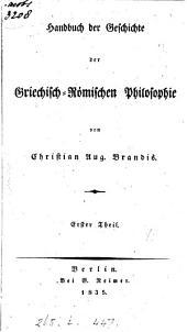 Handbuch der Geschichte der griechisch-römischen Philosophie: Band 1