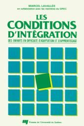 Les Conditions d'Intégration des Enfants en Difficultés d'Adaptation et d'Apprentissage