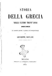 Storia della Grecia negli ultimi trent'anni 1824-1854 di Giuseppe Rovani