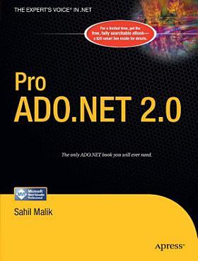 Pro ADO NET 2 0 PDF