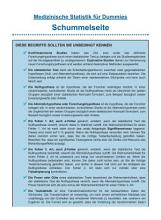 Medizinische Statistik f  r Dummies PDF