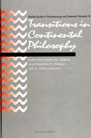 Transitions in Continental Philosophy PDF