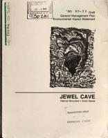 Black Hills National Forest  N F    Jewel Cave National Monument  N M   General Management Plan  GMP  PDF