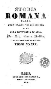 Storia romana dalla fondazione di Roma sino alla battaglia d'Azio, 39-40