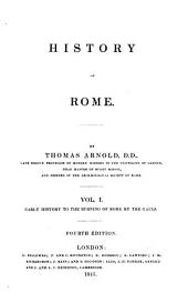 History of Rome: Volume 1