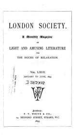 London Society: Volume 63