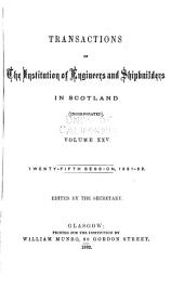 Transactions of the Institution of Engineers and Shipbuilders in Scotland: Volume 25
