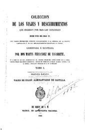 Colección de los viages y descubrimientos que hieieron: Volumen 1