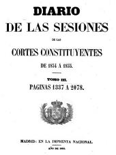 Diario de las sesiones de Cortes: Volumen 3