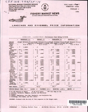 Fishery Market News