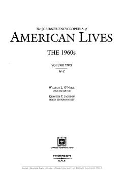 The Scribner Encyclopedia of American Lives  M Z PDF