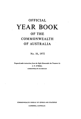 Official Year Book of the Commonwealth of Australia No  58  1972 PDF