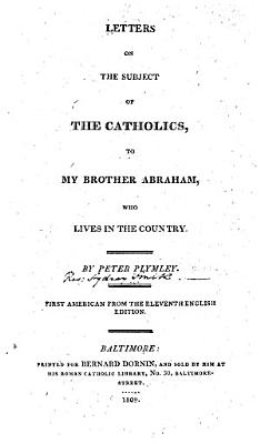 Letters on the Subject of the Catholics  to My Brother Abraham     PDF