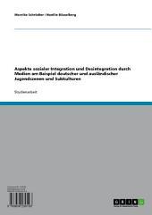 Aspekte sozialer Integration und Desintegration durch Medien am Beispiel deutscher und ausländischer Jugendszenen und Subkulturen