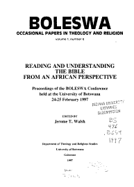 Reading And Understanding The Bible From An African Perspective