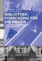 Bibliothek     Forschung f  r die Praxis PDF