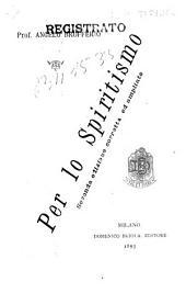 Per lo spiritismo