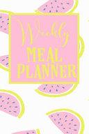 Weekly Meal Planner Book