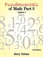 Fundamentals of Math Part 2 Algebra 1